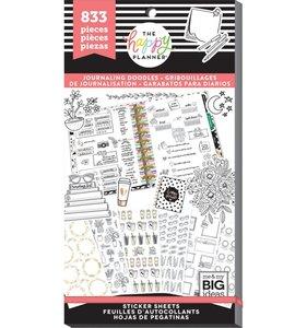 Pegatinas Journaling Doodles Happy Planner Value Pack