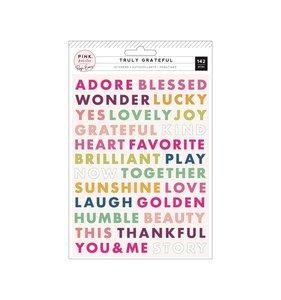 Pegatinas puffy palabras Truly Grateful