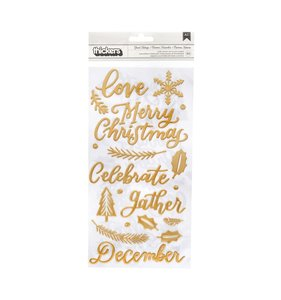 Thickers frases Gold Puffy Together for Christmas Good Tidings