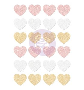 Pegatinas corazones glitter Santa Baby
