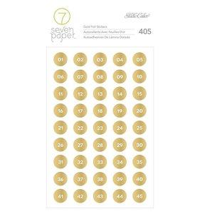 Pegatinas Gold Números