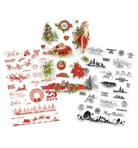 Pegatinas transparentes Simple Vintage Christmas