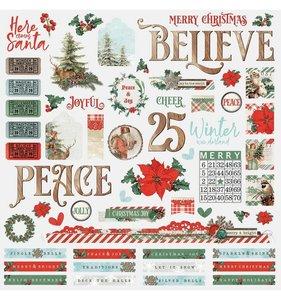 """Pegatinas 12x12"""" Simple Vintage Country Christmas"""
