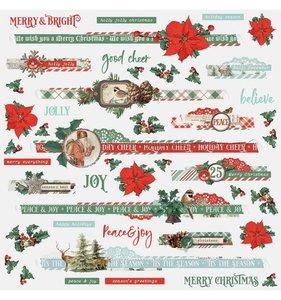 "Pegatinas Borders 12x12"" Simple Vintage Country Christmas"