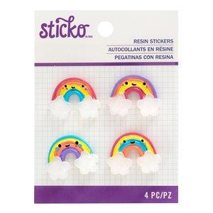 Pegatina Resina Sticko Rainbow