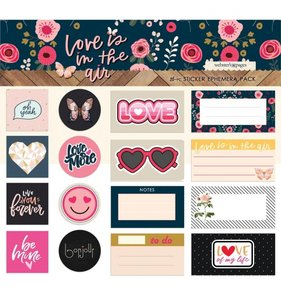 Ephemera Stickers Love is in the Air