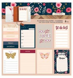 Wallpaper Planning Stickers Pocket Travel Love