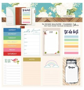 Wallpaper Planning Stickers Pocket Travel Colors