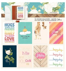 Wallpaper Quotes Stickers Pocket Travel Colors