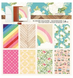 Wallpaper Background Stickers Pocket Travel Colors