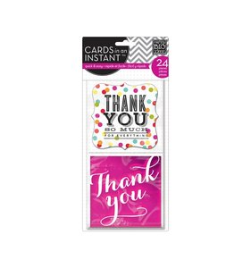 Tarjetas Cards in a instant Thank you