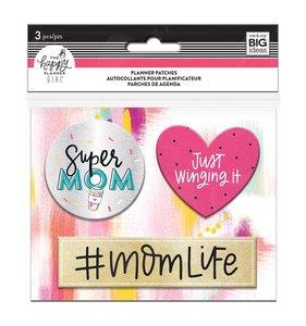 Parches adhesivos de falso cuero Super Mom Happy Planner