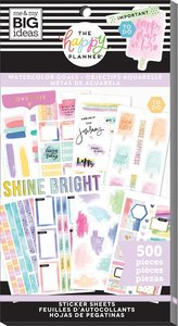 Pegatinas Watercolor Goals Happy Planner Value Pack