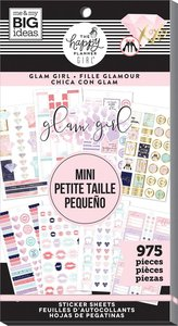 Pegatinas Mini Glam Girl Happy Planner Value Pack