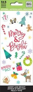 Libreto mini pegatinas Merry and bright