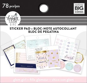 Mini pad de pegatinas Glam Girl Happy Planner