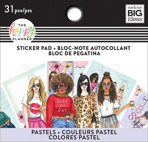 Mini pad de pegatinas Rongrong pastels Happy Planner