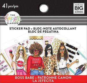 Mini pad de pegatinas Rongrong Boss Babe Happy Planner
