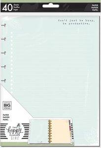 Páginas de rayas para notas Happy Planner Homebody