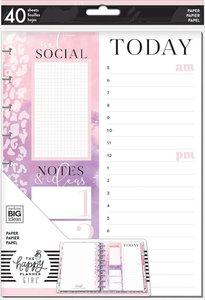 Páginas para notas Happy Planner Glam Girl Social