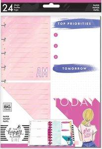 Páginas para notas Happy Planner Encourager Foil