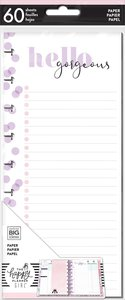 Páginas para notas Happy Planner y Skinny Happy Planner Glam Girl