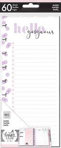 Páginas para notas Happy Planner y Skinny Happy Planner Glam Girl