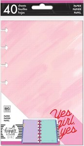 Páginas para notas Happy Planner formato Mini Encourager Yes Girl