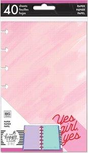 Páginas para notas Happy Planner formato Mini Encourager Yes Girl