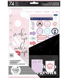 Pack accesorios Glam Girl para Happy Planner estándar