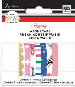 Set Washi Tape Happy Planner Rongrong Colorful