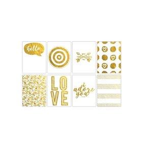 Tarjetas PL 3x4 Gold Adore You