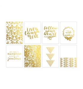 "Tarjetas PL 3""x4"" Follow your heart Gold"