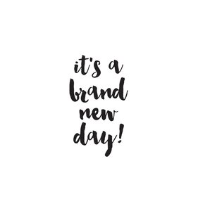 Pegatina vinilo para planner Brand New Day