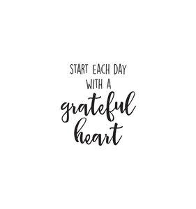 Pegatina vinilo para planner Grateful Heart