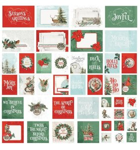 Set tarjetas PL Simple Vintage Country Christmas
