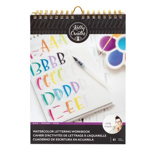 Kelly Creates Bloc de trabajo para practicar Lettering con acuarelas Letras 1