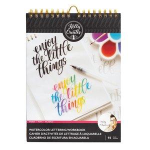 Kelly Creates Bloc de trabajo para practicar Lettering con acuarelas Palabras