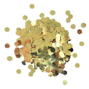 Cosmic Shimmer Glitter Jewels Gold Hexagons