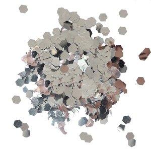 Cosmic Shimmer Glitter Jewels Silver Hexagons