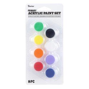 Set de pintura acrílica 8 colores primarios