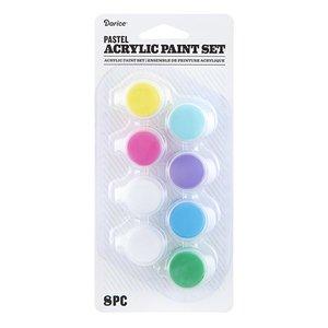 Set de pintura acrílica 8 colores pastel