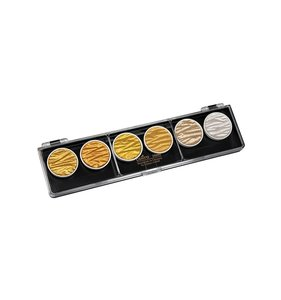 Set Gold and Silver 6 acuarelas perladas Coliro Finetec