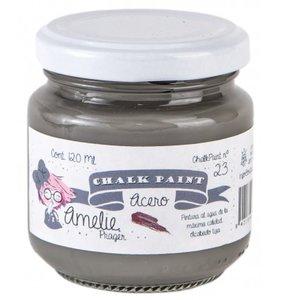Pintura Chalk Amelie 120 ml Acero