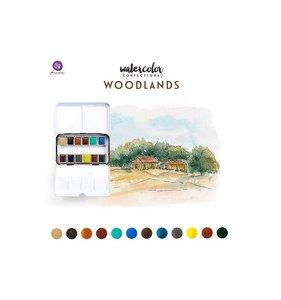 Caja paleta acuarelas Woodlands