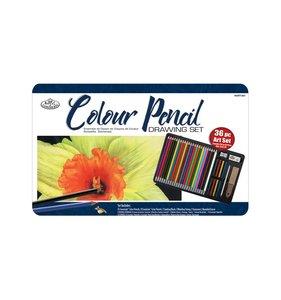 Colour Pencil Drawing Set 36 pc R & L