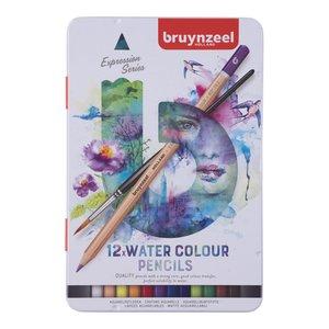 Caja 12 lápices acuarelables Bruynzeel