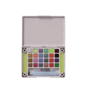 Caja de acuarelas Koi Sakura 24 colores perlados