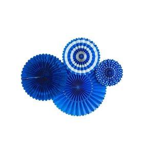 Abanicos de papel Blue