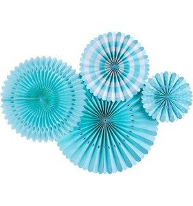 Abanicos de papel Aqua